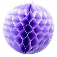 Бумажный шар соты 20 см (фиалковый)