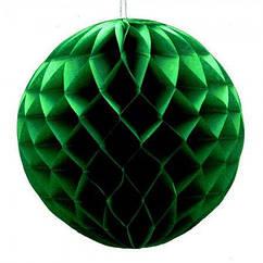 Бумажный шар соты 30 см (малахитовый)