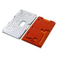 Комплект форм (из металла и пористой резины) для APPLE iPhone X, для отцентровки и склеивания дисплея со стеклом оснащённым дисплейной рамкой