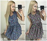 Коротке літнє плаття в квіточку 16511, фото 1