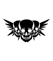 Виниловая наклейка  - черепа