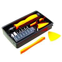 Набор инструментов JAKEMY JM-8156 (ручка, 14 бит, 2 двухсторонние пластиковые лопатки, 3 медиатора)