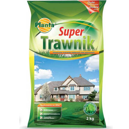 Семена травы газонной Planta Super Trawnik 2кг, фото 2