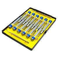 Набор инструментов LUKEY L3076 (12 отвёрток, пинцет прямой, пинцет изогнутый)