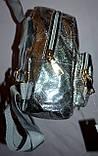 Женский блестящий пудровый рюкзак с бабочкой 16*20 см, фото 2