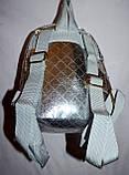 Женский блестящий пудровый рюкзак с бабочкой 16*20 см, фото 3