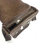 Кожаная мужская сумка VS214 Crazy horse brown 20х23х5.5  см, фото 3