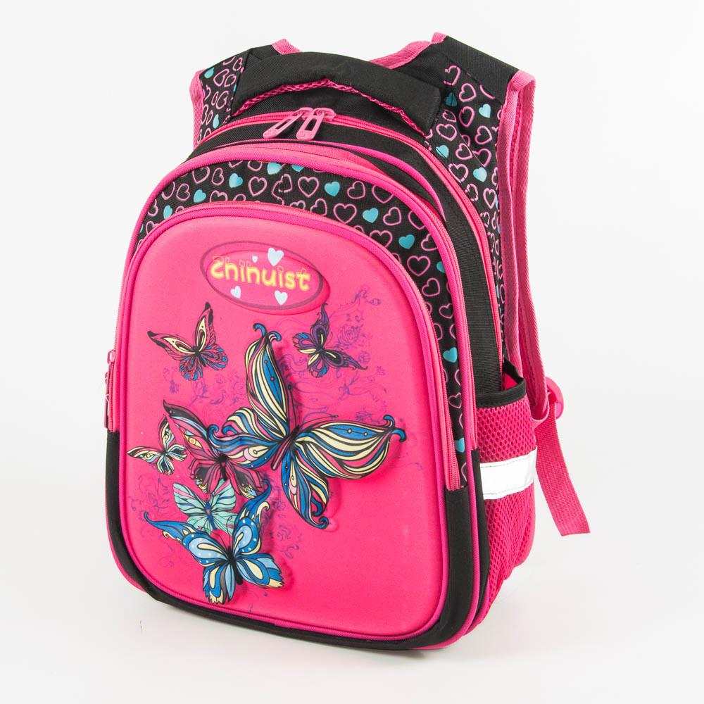 Школьный рюкзак для девочки с ортопедической спинкой - розовый - Y032