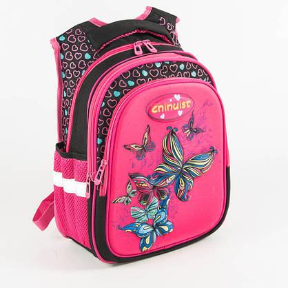 Школьный рюкзак для девочки с ортопедической спинкой - розовый - Y032, фото 3