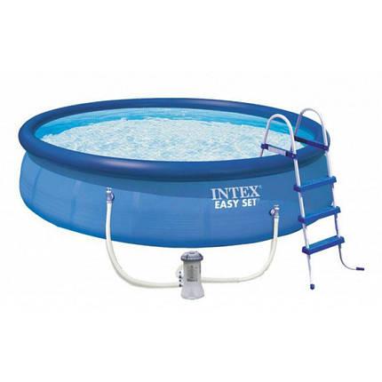 Надувной бассейн с комплектом Easy Set, Intex 28180 (457х84 см), фото 2