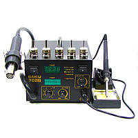 Паяльная станция BAKU BK702B/BK702L компрессорная, фен, паяльник