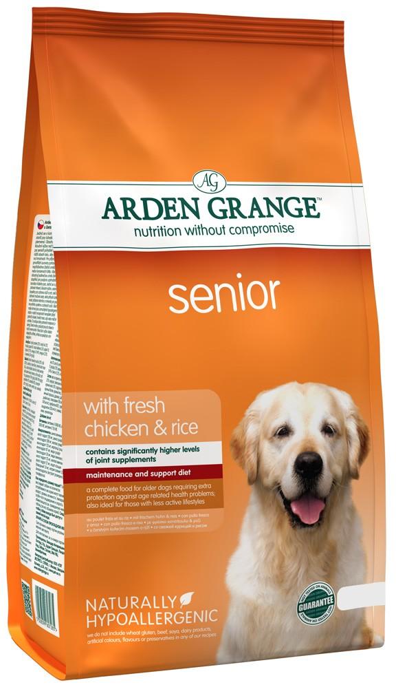 Arden Grange (Арден Грендж ) Adult Dog Senior Корм для собак преклонного возраста с курицей и рисом, 2 кг