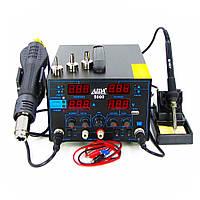 Паяльная станция AIDA 5000 фен, паяльник, блок питания 30V 5A, USB A 5V 2A, цифровая индикация