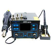 Паяльная станция AIDA 887D фен, паяльник, цифровая индикация