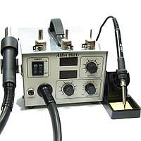 Паяльная станция AIDA 952D+, фен с вентиляторным нагнетателем встроенным в корпус блока управления, паяльник