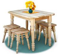 Набор кухонной мебели Украиночка  Стол и 4 табурета