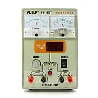 Блок питания WEP PS-1502T 15V, 2A, цифровая/стрелочная индикация, тестер вольтажа до 50V, автовосстановление после КЗ