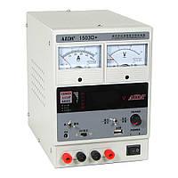 Блок питания AIDA 1503D+, 15V, 3A, стрелочная и цифровая индикация, RF, выход на 9V и 5V-USB, два режима 5V-15V;