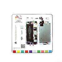 Магнитный мат MECHANIC iP5s для раскладки винтов и запчастей при разборке iPhone 5s