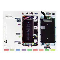 Магнитный мат MECHANIC iP6s Plus для раскладки винтов и запчастей при разборке iPhone 6s Plus