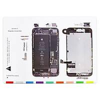 Магнитный мат MECHANIC iP7 для раскладки винтов и запчастей при разборке iPhone 7