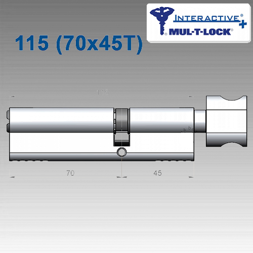 Цилиндр Mul-T-Lock Interactivе+ 115 мм (70х45T)