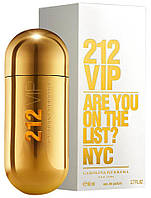 Женская парфюмированная вода carolina herrera 212 vip 80 ml, фото 1