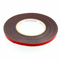 Скотч двусторонний  ширина 8мм, толщина 1мм (красный) на полиуретановой основе