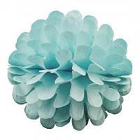 Бумажный шар цветок 20см (голубой)