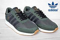 Кроссовки мужские Adidas  Iniki Runner адидас иники ранер зеленый с черным реплика Вьетнам 40-25.5 см