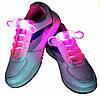 Светящиеся шнурки LED 80 см* 2,8 мм цвет розовый