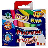 Пластилів люкс  6 кольорів