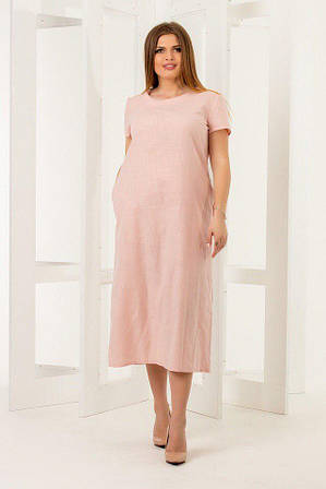 Платье летнее цвета пудры от YuLiYa Chumachenkо