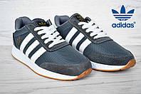 Кроссовки мужские Adidas  Iniki Runner адидас иники ранер серые реплика Вьетнам серые 41-26 см