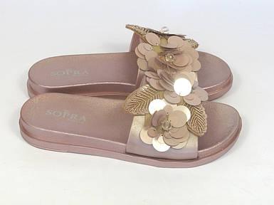 Женские розовые шлепанцы Sopra
