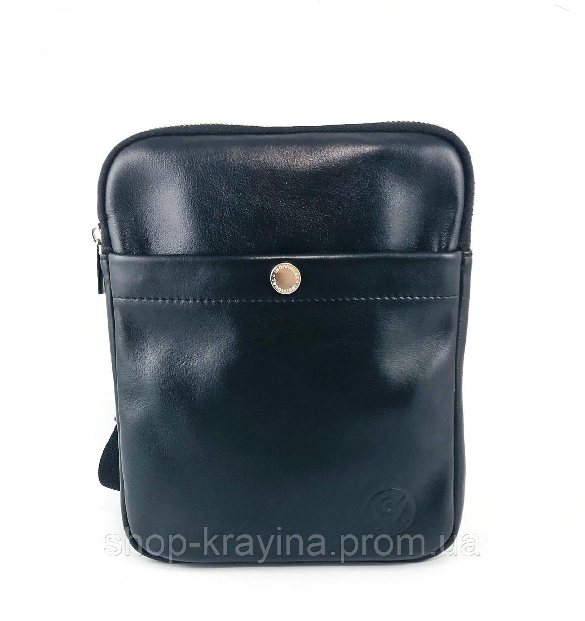 Мужская стильная сумка VS007 leather fleet 25х20х3