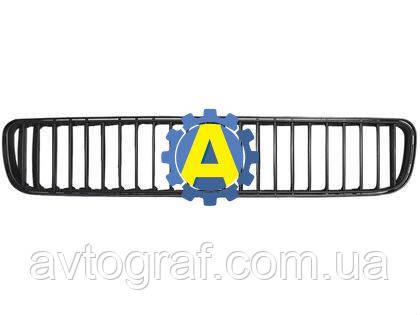 Решетка в бампер передний на Шкода Фабиа (Skoda Fabia) 2007-2010