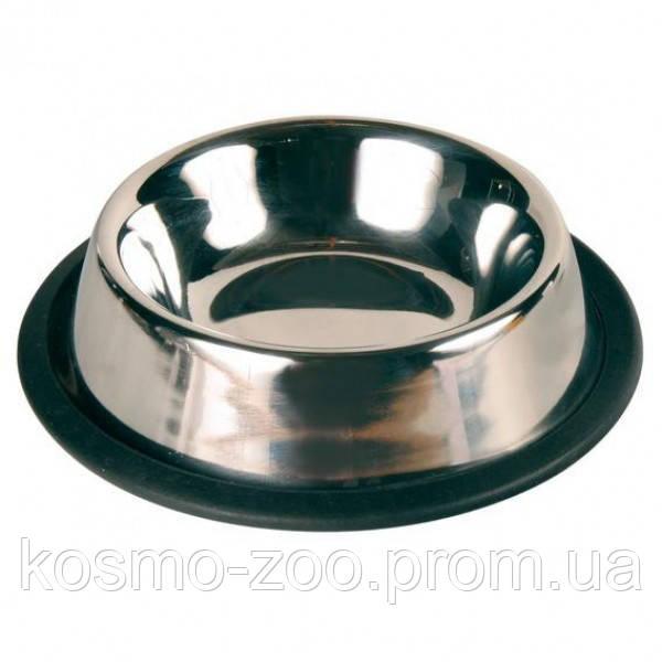 Хромированная металлическая миска 1,8 л Trixie TX-24854