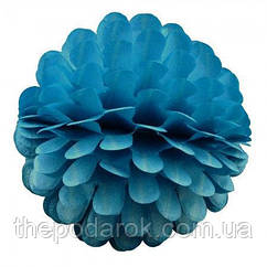 Бумажный шар цветок 20см (лазурный)