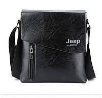 Мужская сумка JEEP 9006 черные, коричневые, фото 1