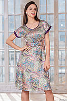 fd919d33d473b Платье из принтованного искусственного шелка. Италия. Mia Mia Мирель 8275