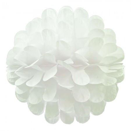 Бумажный шар цветок 30см (белый)
