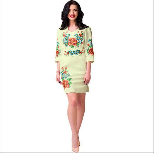 Мальва с васильками платье цвета айвори