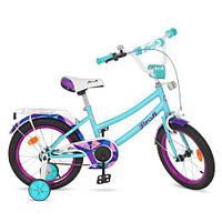 Велосипед детский Profi Princess 14д., звонок, доп.колеса
