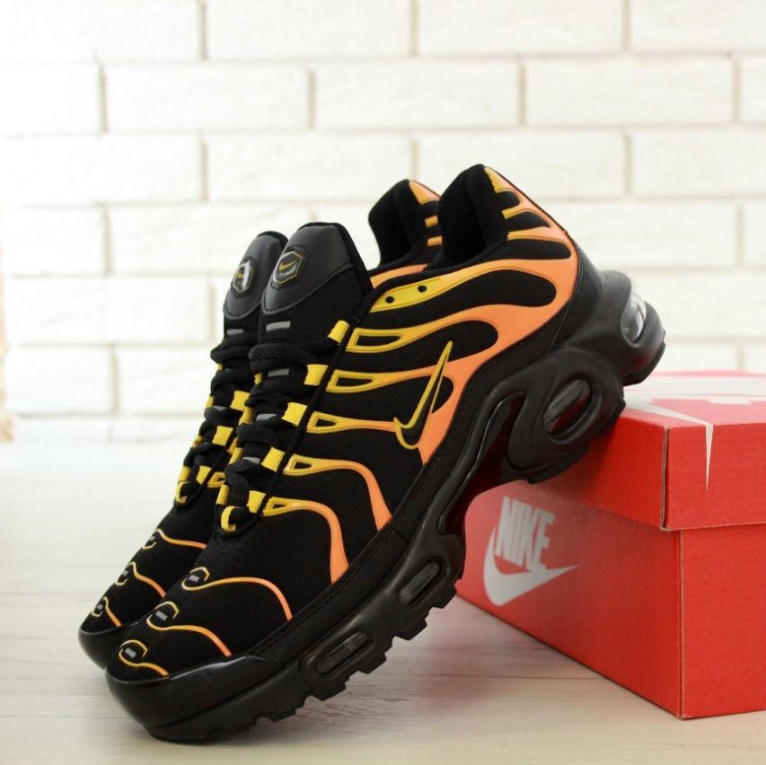 97d14ba3 Кроссовки в Стиле Nike Air Max TN Plus Black/Orange Мужские — в ...