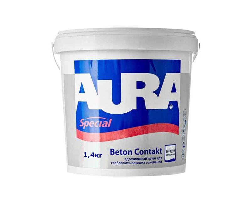 Грунт з кварцовим піском AURA BETON CONTACT адгезійний 1,4 кг