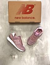Кроссовки женские New Balance 574 розовые топ реплика, фото 3