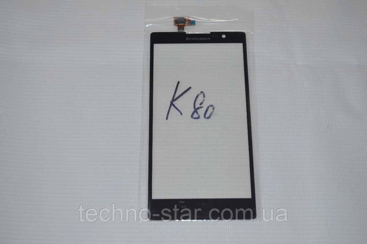 Оригинальный тачскрин / сенсор (сенсорное стекло) для Lenovo K80   K80M (черный цвет, чип Synaptics) + СКОТЧ