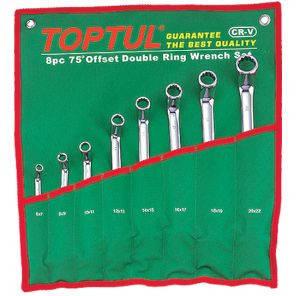 Набор накидных ключей 8-19мм (угол 45°) 6ед. Toptul GAAA0602, фото 2