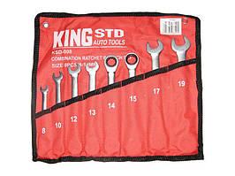 Набор ключей рожково-трещоточных  8шт King STD KSD-008 сумка